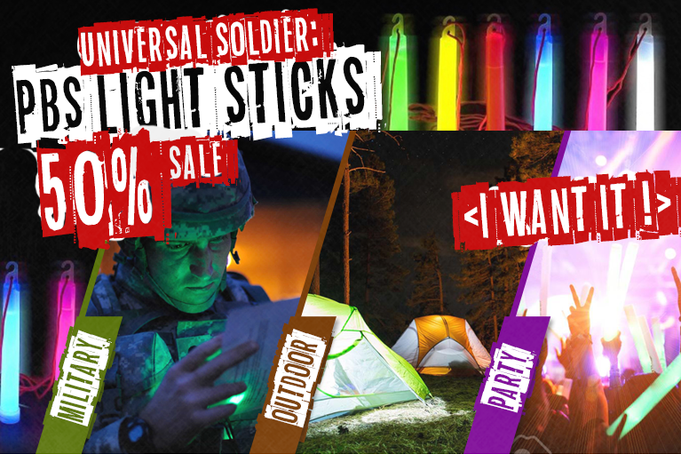 Glow stick - 50% price cut.