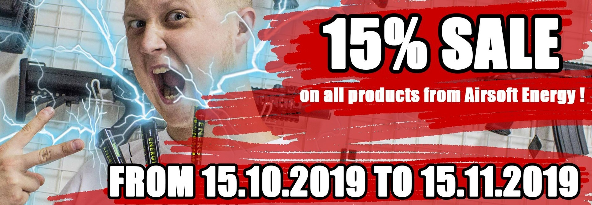 Sale 15% on all products from Energy Airsoft