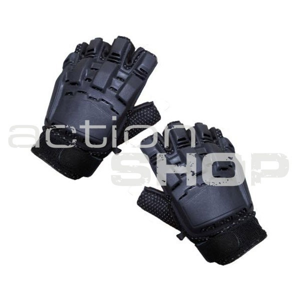 Paintball Half Finger Gloves Black