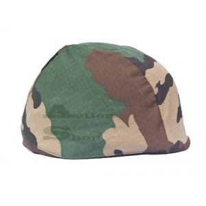 PBS Helmet Cover with Cat Eye (Woodland)