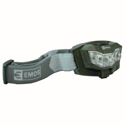 Headlamp Camo 2x clear LED, 1x red LED 3xAAA