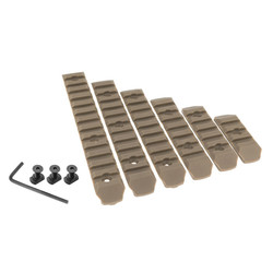 Set of 6 polymer RIS rails for M-LOK foregrip - TAN