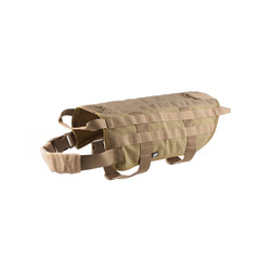 Tactical harness for dog, size M, tan