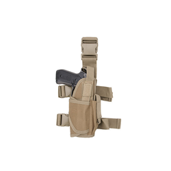 GFC Modular Thigh Pistol Holster with Magazine Pouch, tan