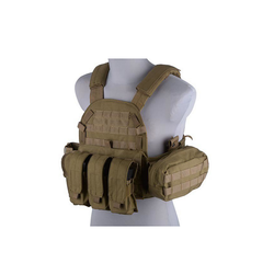 LBT 6094 type vest with pouches, tan