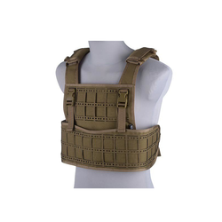 Vest tactical type Laser cut, tan