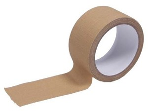 Adhesive tape cloth, 5 cm x 10 m, Khaki