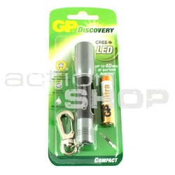 LED flashlight, alluminium body incl. batteries (1x AAA)