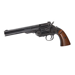 "Revolver Schofield 6"" GNB CO2 black/wooden grip"
