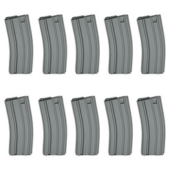 Magazine, AEG M15/M16, 85 rounds, grey - 10pcs