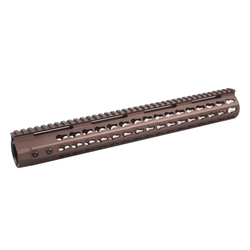 "KeyMod Free Float 15"" Slim Handguard Burnt Bronze"