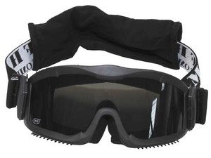 "Safety Goggle ""Thunder Deluxe"" Black, 2 spare glasses"