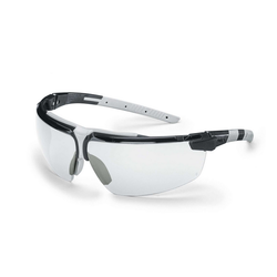 UVEX i-3 Spectacles Black/Light Grey, Clear HC-AF Lens