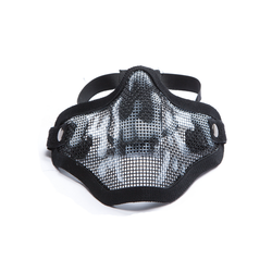 Wire Face Mask with Skull, Black