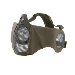 Face mask metal mesh Stalker EVO PLUS, olive