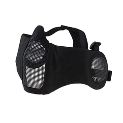 Face mask metal mesh Stalker EVO PLUS, black