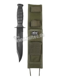 Combat knife with olive scabbard