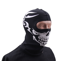 GFC Thermoactive balaclava - black with skull print