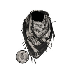 Shemagh Scarf Pineapple, black/white