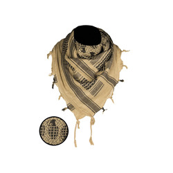 Shemagh Scarf Pineaple, coyote/black