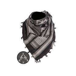 Shemagh Scarf Rifles, black/white