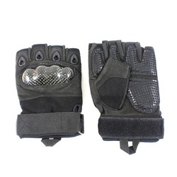 Gloves with Nail and Knucle Protection Black L