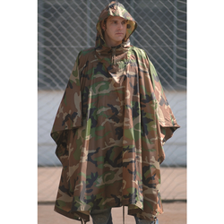 Poncho Rip-Stop Woodland