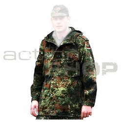 BW Field parka with hooded top, flecktarn, used