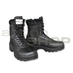 Mil-Tec Tactical Boot With Zipper Black