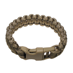 Bracelet paracord, tan