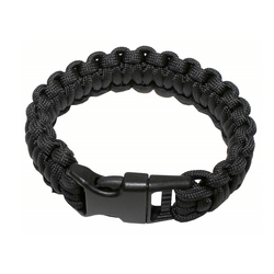 Bracelet paracord, black