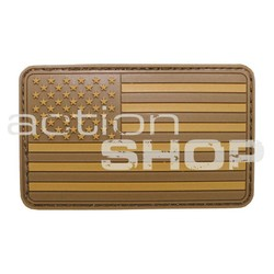 MFH Patch vlajka USA, 3D, desert tan, silikon, 8x5cm