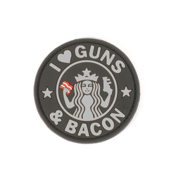 Patch Guns and Bacon black -3D