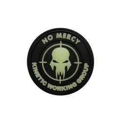 Patch NO MERCY, Glows in dark - 3D