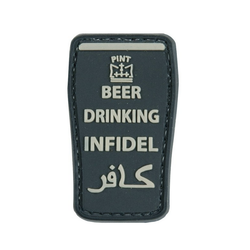 Patch Beer Drinking Infidel, black