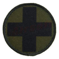 Circle Patch black cross green background