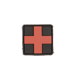 Patch PVC 3D First Aid 3x3cm, black