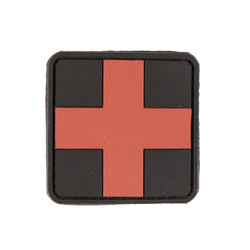Patch PVC 3D First Aid 5,5x5,5cm, black