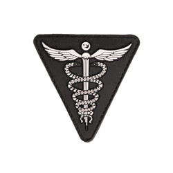 Patch PVC 3D Medical 7x7cm, black