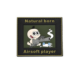 Natural Born Airsoft Player Patch, 3D