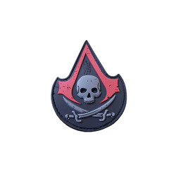 ASSASIN SKULL Patch, 3D