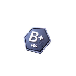 Bloodtype B Pos Hexagon Patch, 3D