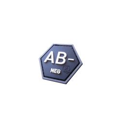 Bloodtype AB Neg Hexagon Patch, 3D