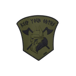 Keep Your Oaths Patch, green, 3D