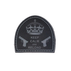Keep Calm And Reload Patch, Black, 3D